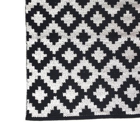 DEER Cotton Rug Black & White