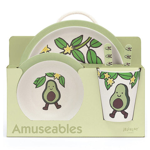 Jellycat Amuseable Avocado Bamboo Dinner Set