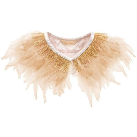 Dress Up Peach Feather Collar