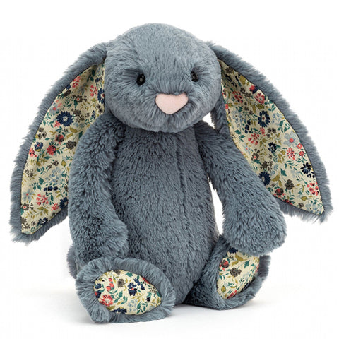 Jellycat Soft Toy Bashful Bunny Blossom Dusky Blue
