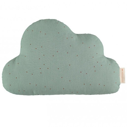 Nobodinoz Cushion Cloud Toffee Sweet Dots Eden Green