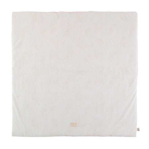Nobodinoz Playmat Square Colorado Gold Bubble - White