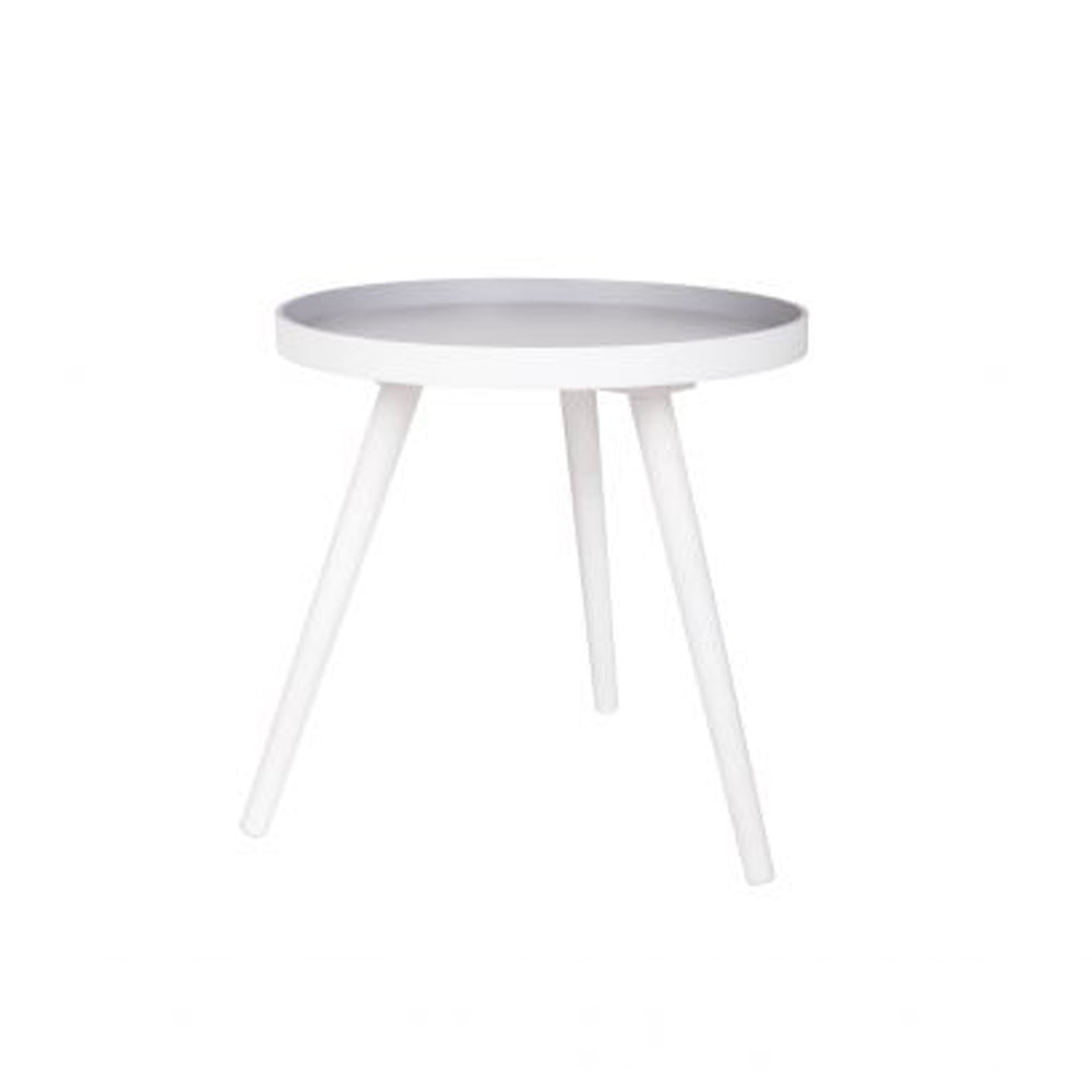 Side Table White - Grey