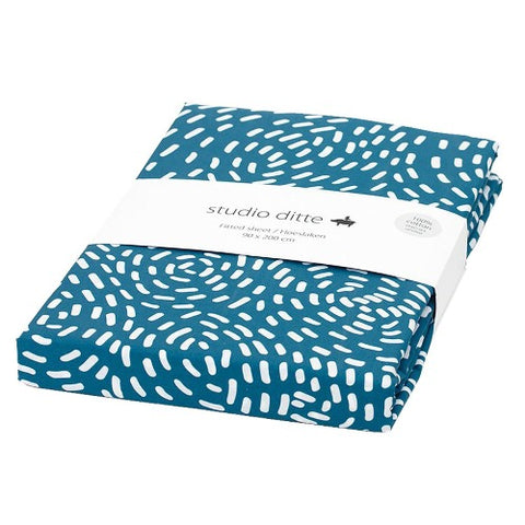Fitted Sheet Flow Blue