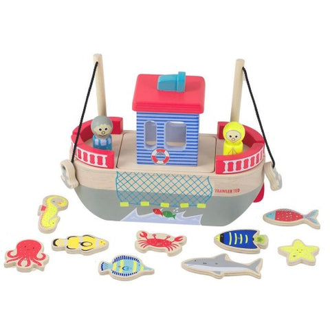 Wooden Toy Ted's Fishing Trawler