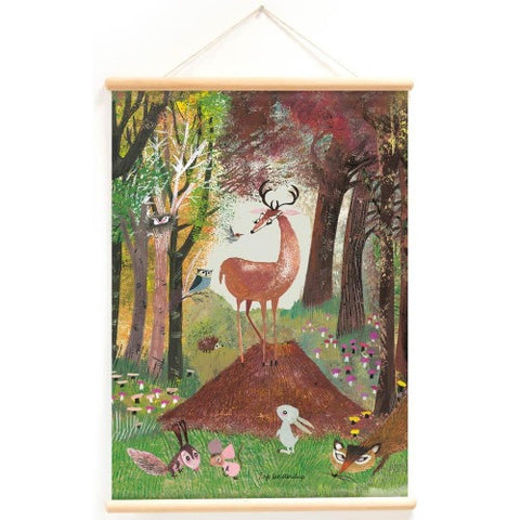 Poster With Hanger Animals in the Forest