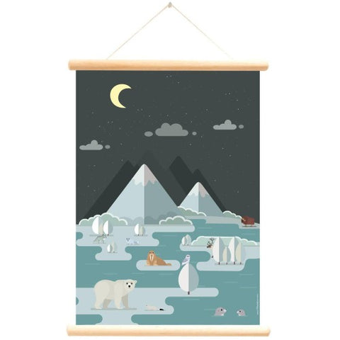 Poster With Hanger Polar Animals