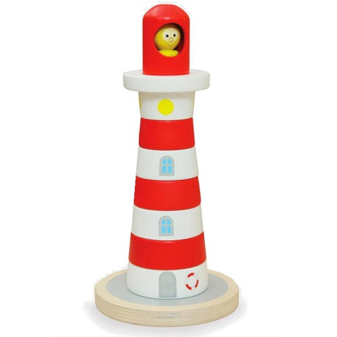 Wooden Toy Lighthouse Stacker