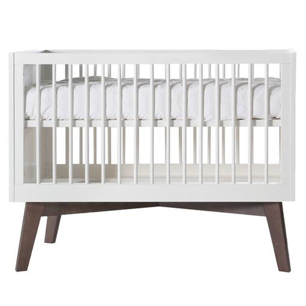 Sixties Matt White Cot Dark Base