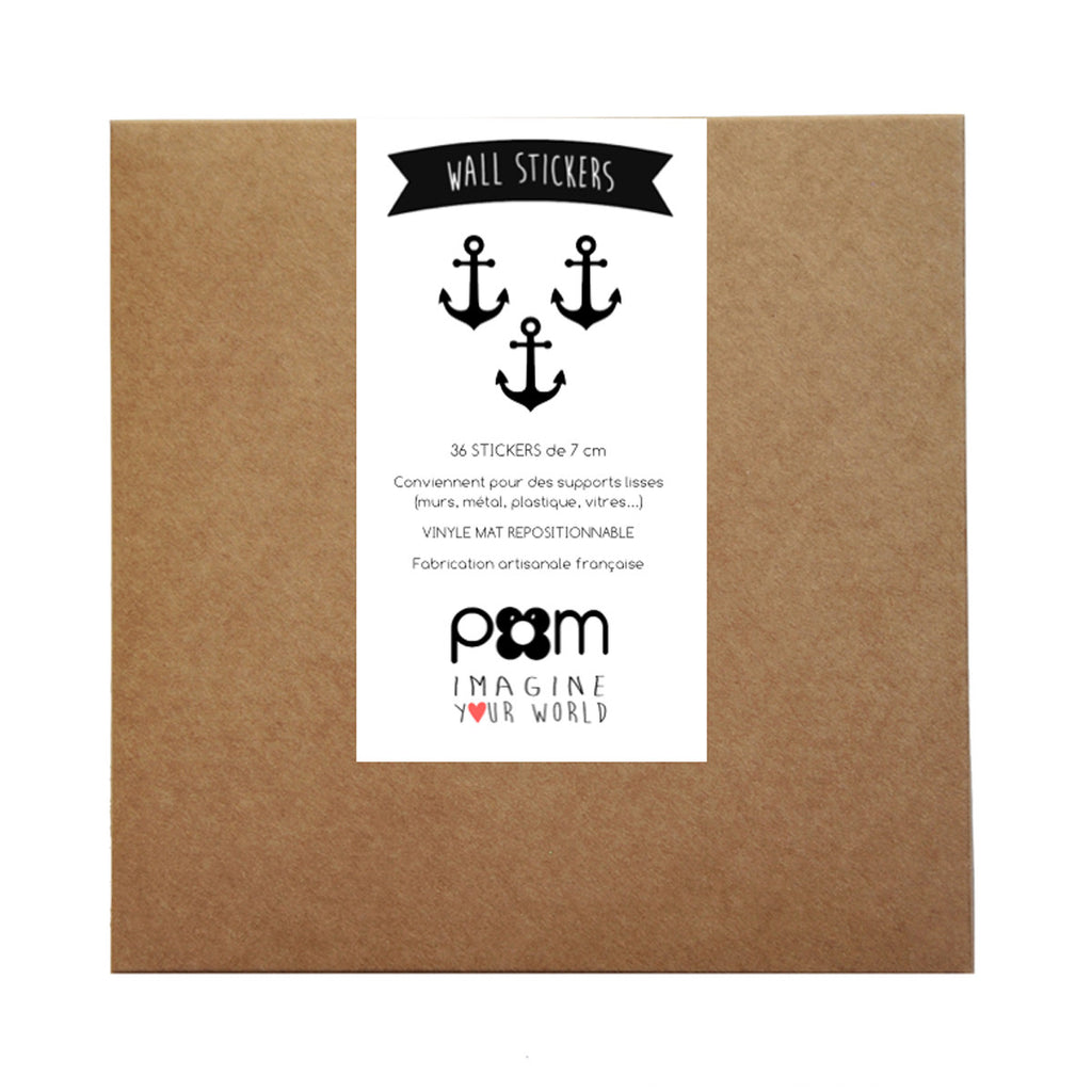 Pom Wall Stickers Anchor Black