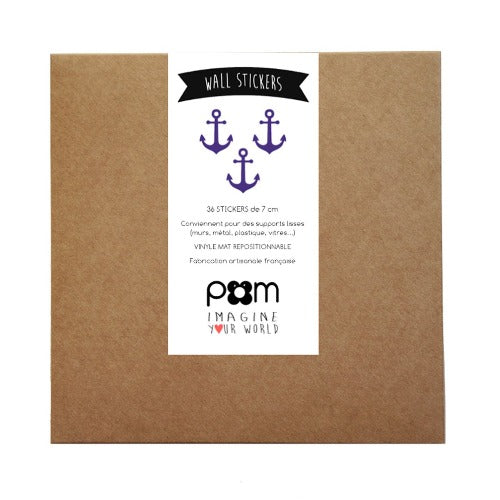 Pom Wall Stickers Anchor Blue