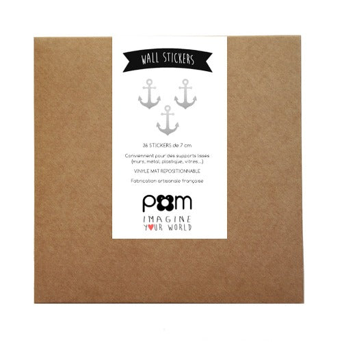 Pom Wall Stickers Anchor Silver
