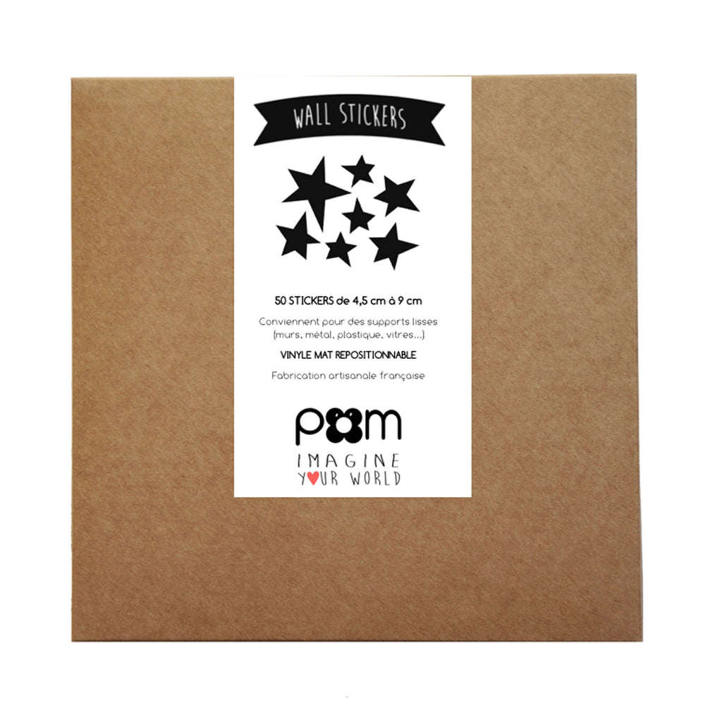 Pom Wall Stickers Star Black