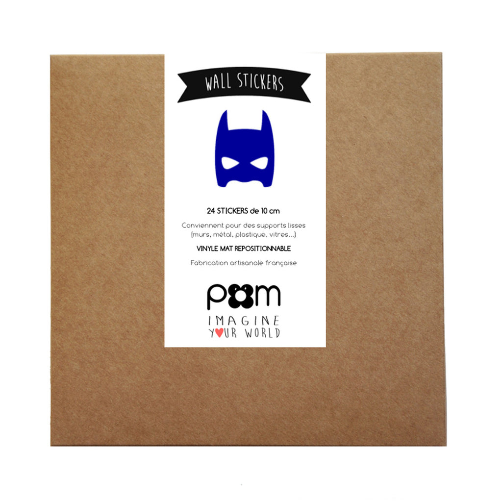 Pom Wall Stickers Superhero Blue