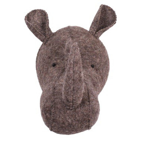 Zoo Felt Wall Hanging Rhino