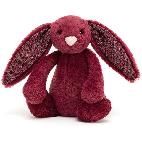 Jellycat Soft Toy Bashful Bunny Sparkly Cassis