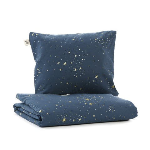 Nobodinoz Duvet Cover Cot Stella Night Blue Gold