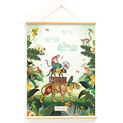 Poster With Hanger In The Jungle