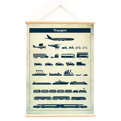 Poster With Hanger Vehicles Transport