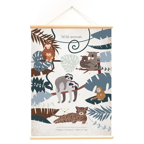 Poster With Hanger Wild Animals Sloth