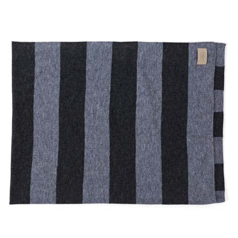 Blanket Sonno Plaid Stripe Grey Melange