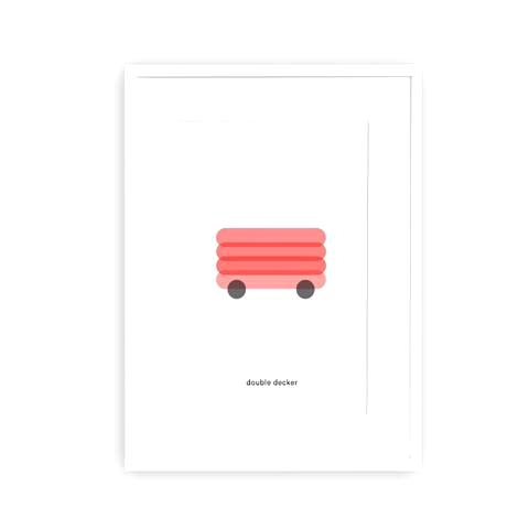 Art Print Double Decker Minimal