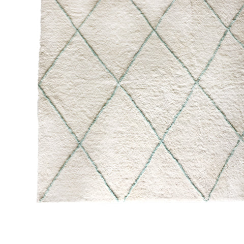 Deer Cotton Tufted Rug Mint