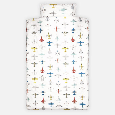 Duvet Cover Toddler Size Airplanes