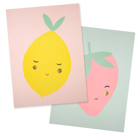 Art Prints Fruit (set of 2)