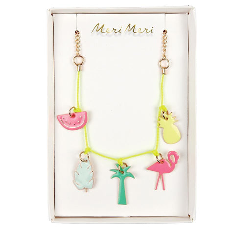 Necklace Tropical Enamel Charm