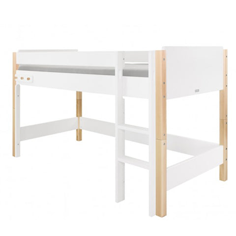 Semi Loft Bed Jente White Natural