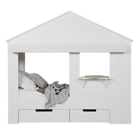 Bed Single Size House White