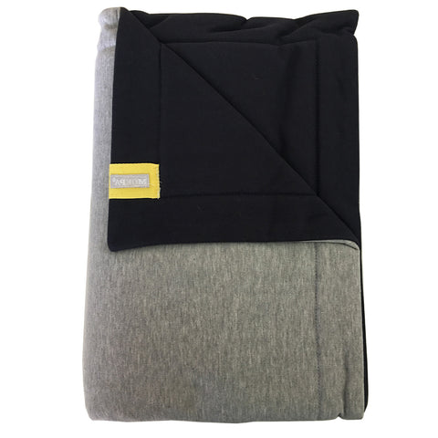 Moepa Cot Blanket 100x150 Blue - Grey