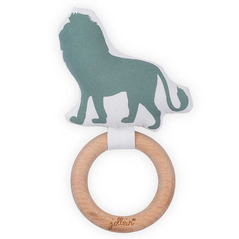 Teething Ring Safari Forest Green