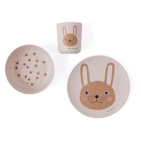 Tableware Set Bamboo Rabbit