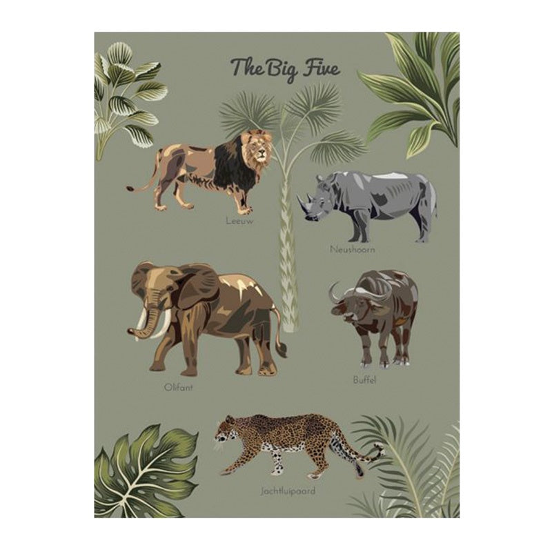 Poster 50 x 70 The Big Five Forest