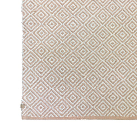 Deer Diamond Cotton Rug Pale Pink