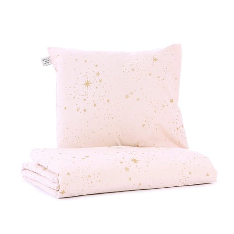 Nobodinoz Duvet Cover Cot Stella Dream Pink Gold