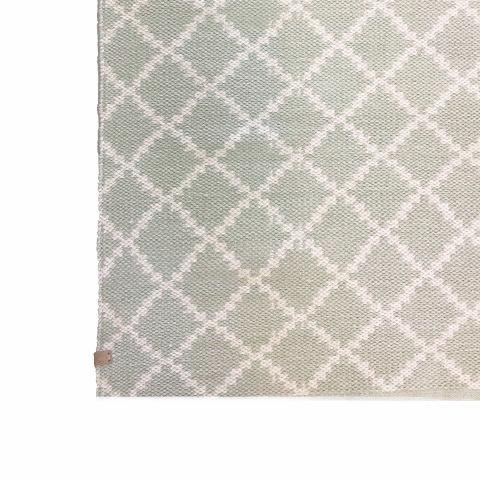 Deer Cotton Rug Geometric Pale Mint