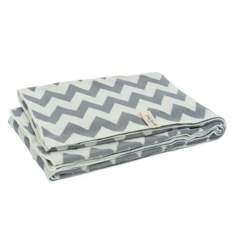 Jollein Blanket Chevron 100x150 Grey Off White