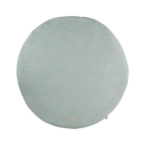 Nobodinoz Playmat Round Full Moon White Bubble/Aqua