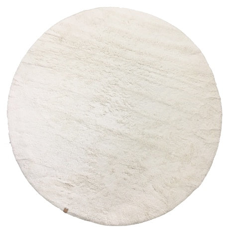 DEER Cotton Tufted Rug Round White