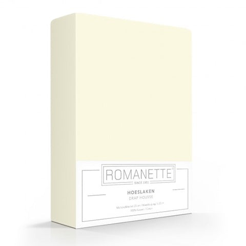 Romanette Fitted Sheet Cotton 90x200 Off White