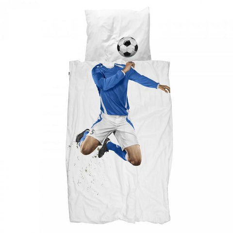 Duvet Cover Soccer Player Blue