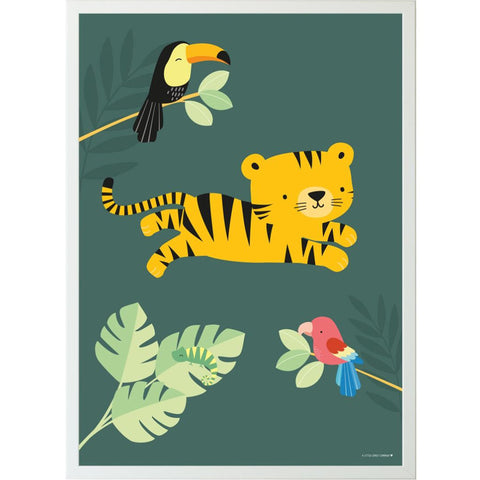 Poster 50 x 70 Jungle Tiger