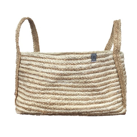 DEER Jute Handmade Basket Natural/White