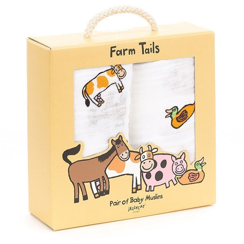 Jellycat Pair of Muslins Farm Tails