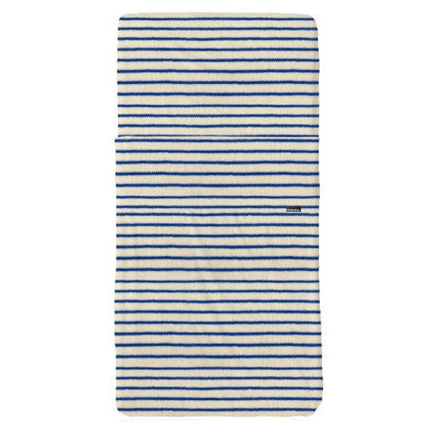 Fitted Sheet Cot Breton Bonsoir Blue