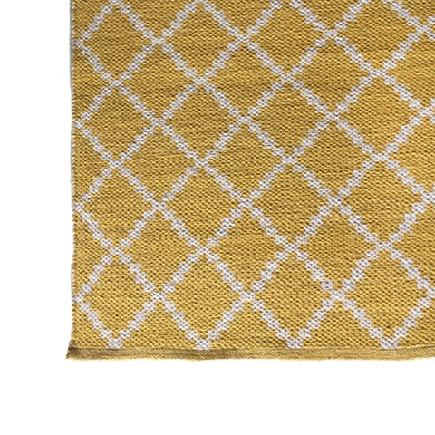 DEER Cotton Rug Geometric Warm Yellow