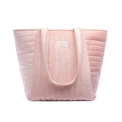 Nobodinoz Maternity Bag Savanna Velvet Bloom Pink